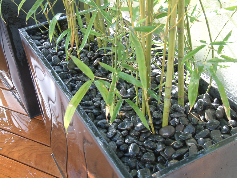 Contemporary bespoke plant pot on a London roof garden | Urban Tropics